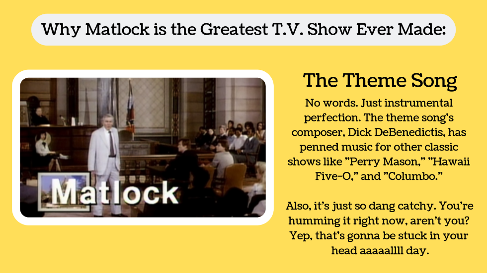 7 Reasons why Matlock is the greatest television show ever made
