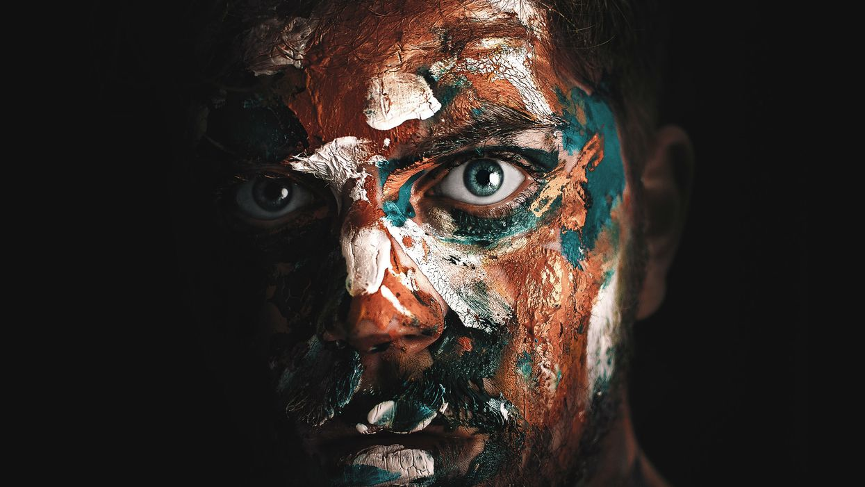 man with facepaint