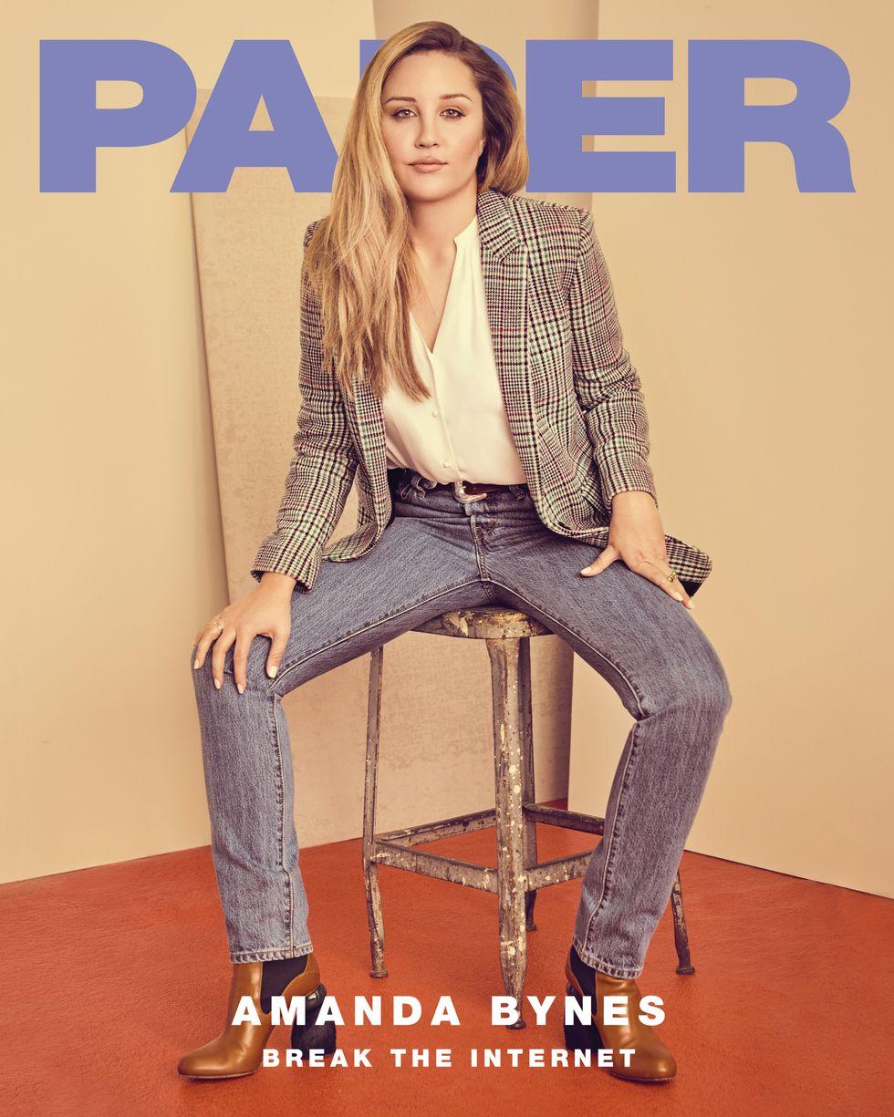 Amanda Pill amanda bynes on the cover of paper break the internet - paper