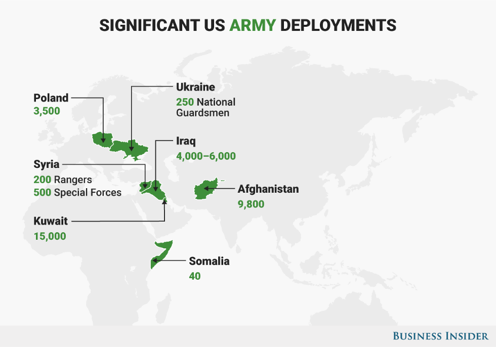 5 Maps That Show The Major Hotspots Where The Us Military Is - Afghanistan-us-bases-map