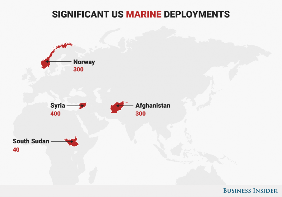 5 Maps That Show The Major Hotspots Where The US Military Is