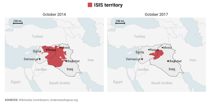 How Much Territory Has ISIS Lost In Iraq And Syria? Check These Maps ...