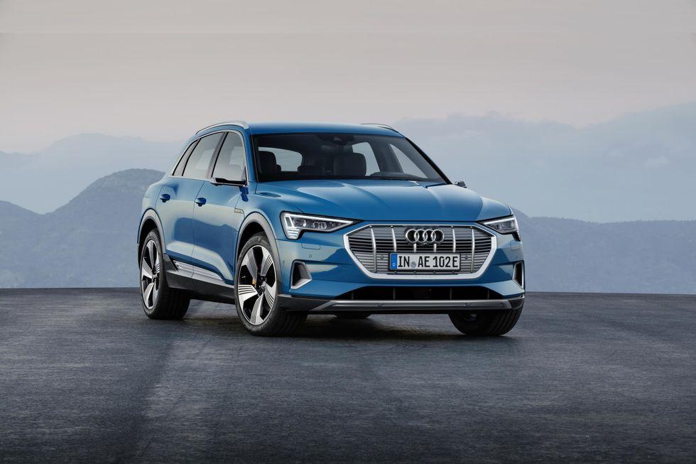 Photo of a blue Audi e-tron SUV