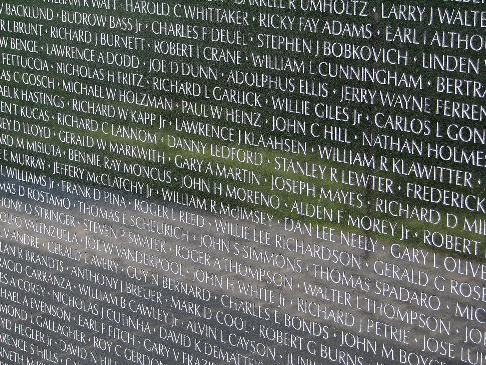 Why Names Are Added To The Vietnam Veterans Memorial Wall Americas Military Entertainment Brand