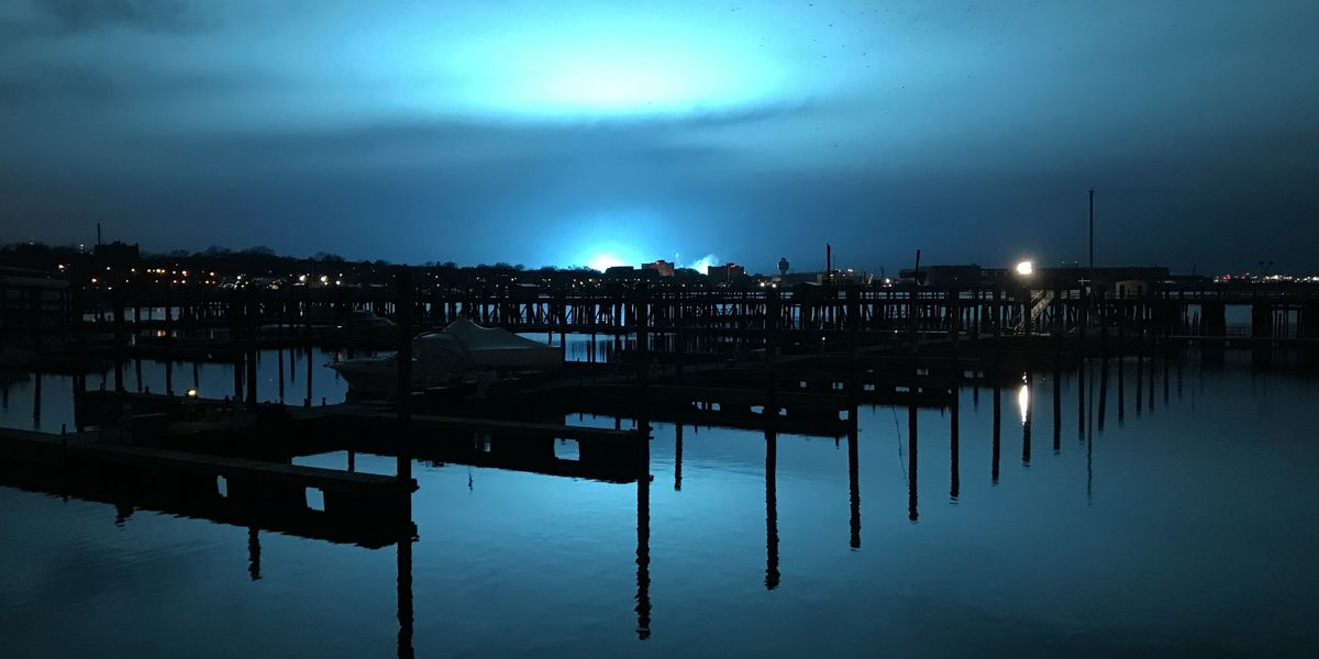 Mysterious Blue Light has Everyone Ready for the Alien Invasion