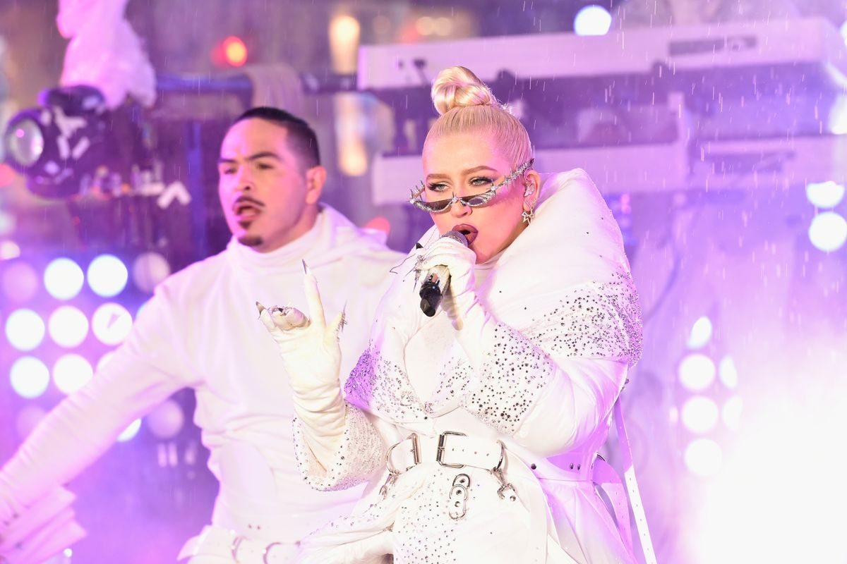 Inside Xtina's Ice Queen NYE Look With Jewelry Designer Chris Habana