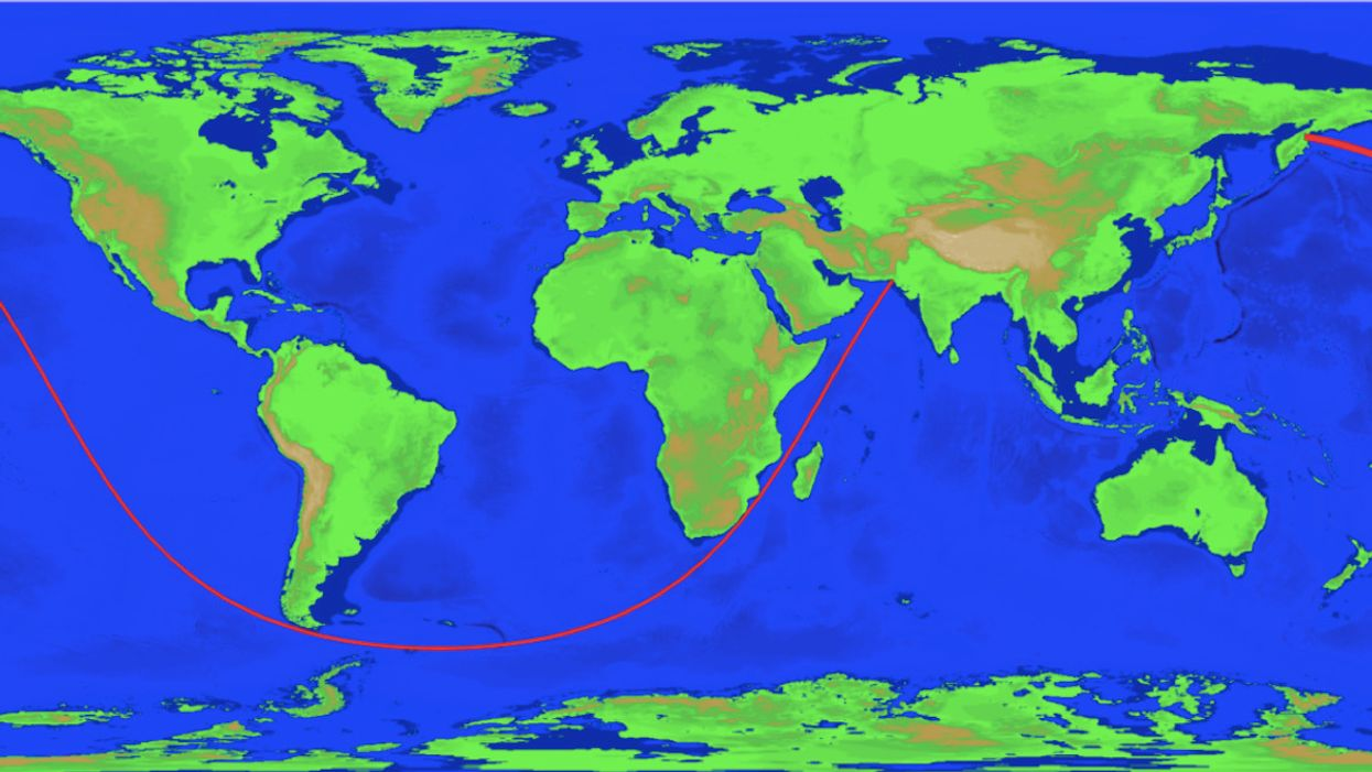 These are the world's longest straight lines