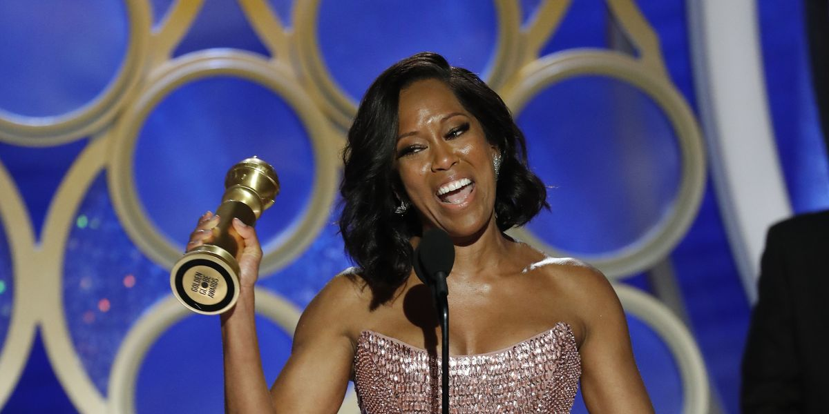 The Globes Briefly Tried to Cut Off Regina King's Speech Last Night