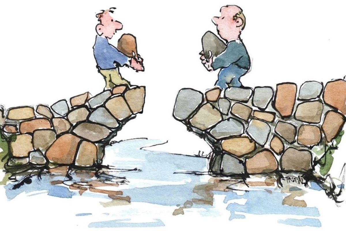 I muri sono i bastioni della civiltà. Che pena la retorica vuota sui ponti