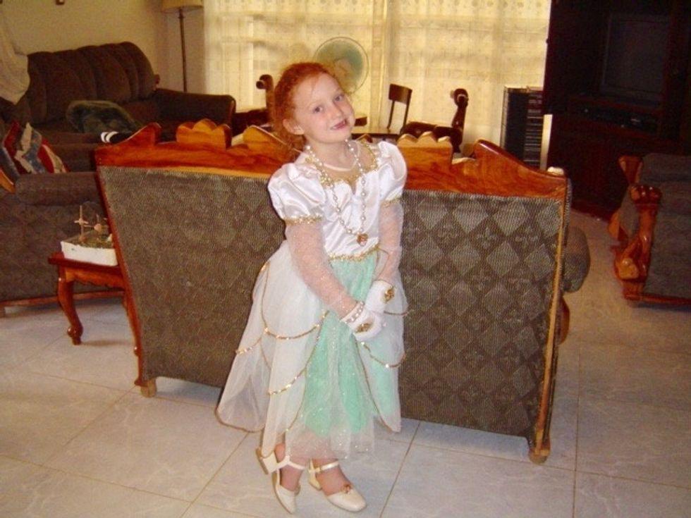 girl in a princess dress