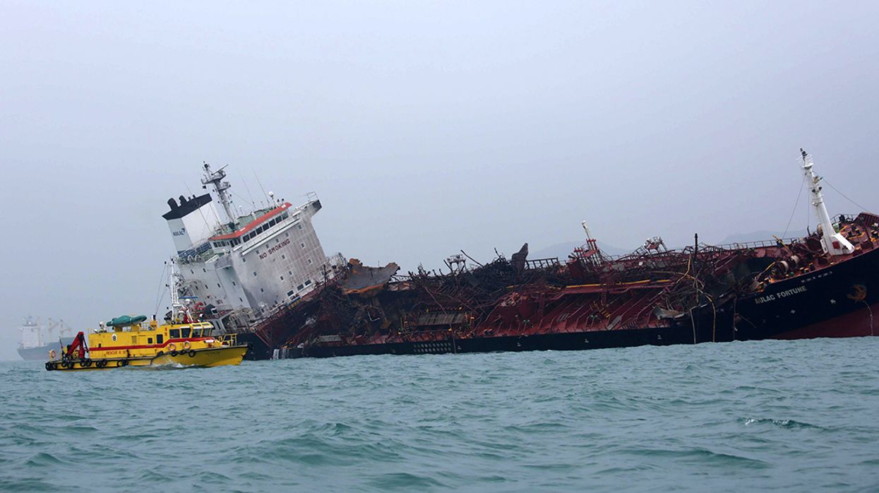 Oil Tanker Fire Near Hong Kong Kills 1, Potential Spill Could Threaten Endangered Turtles and Dolphins