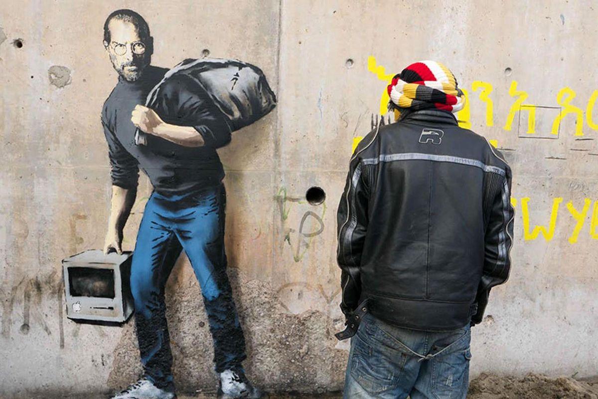 Banksy illustratore del pensiero unico fa il furbo come fosse un Toscani qualunque