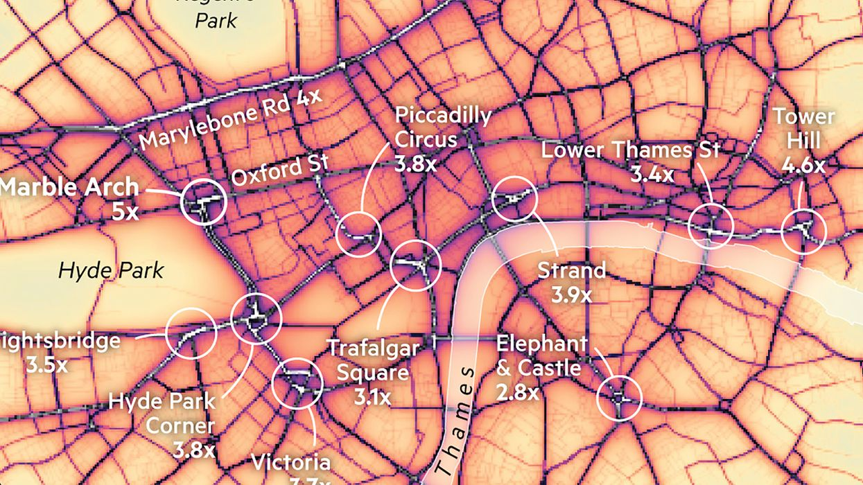 A map of London's most toxic breathing spots