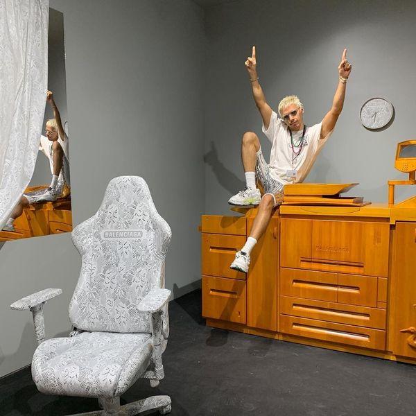Step Into Artist Harry Nuriev's Balenciaga-Inspired Office