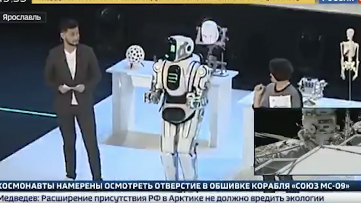 """Hi-tech"" Russian robot turns out to be a man in a suit"