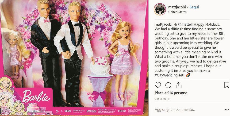 Una coppia omosex chiede di far sposare due Ken. Mattel la invita in azienda