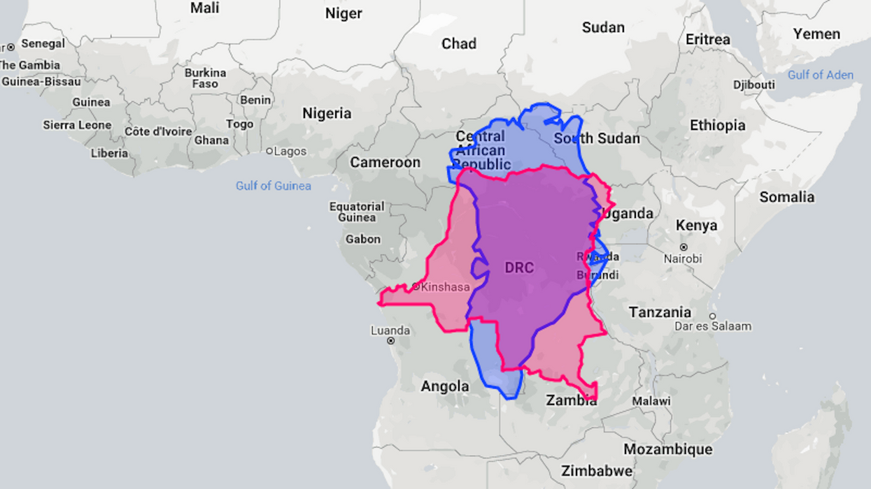 You can now drag and drop whole countries to compare their size