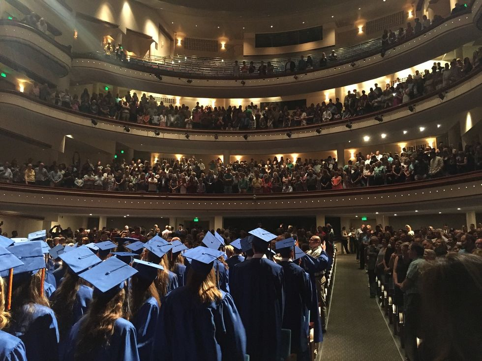 College graduation ceremony
