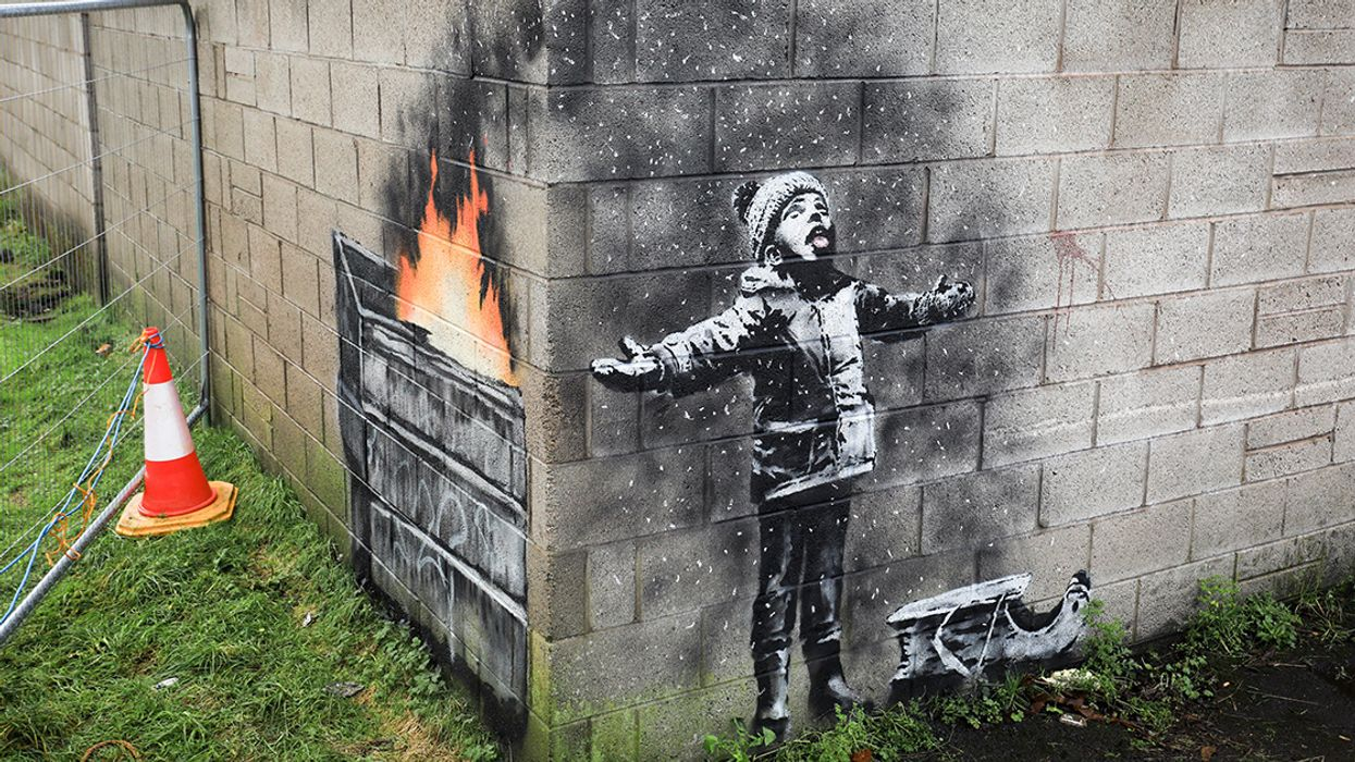 Banksy's Latest Mural Is a Haunting Take on Air Pollution