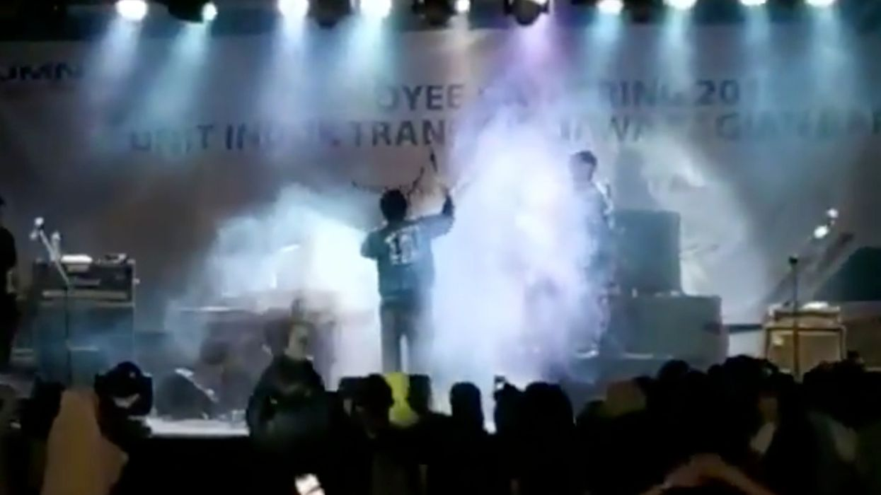 WATCH: Video shows the horrifying moment tsunami strikes concert after volcanic eruption