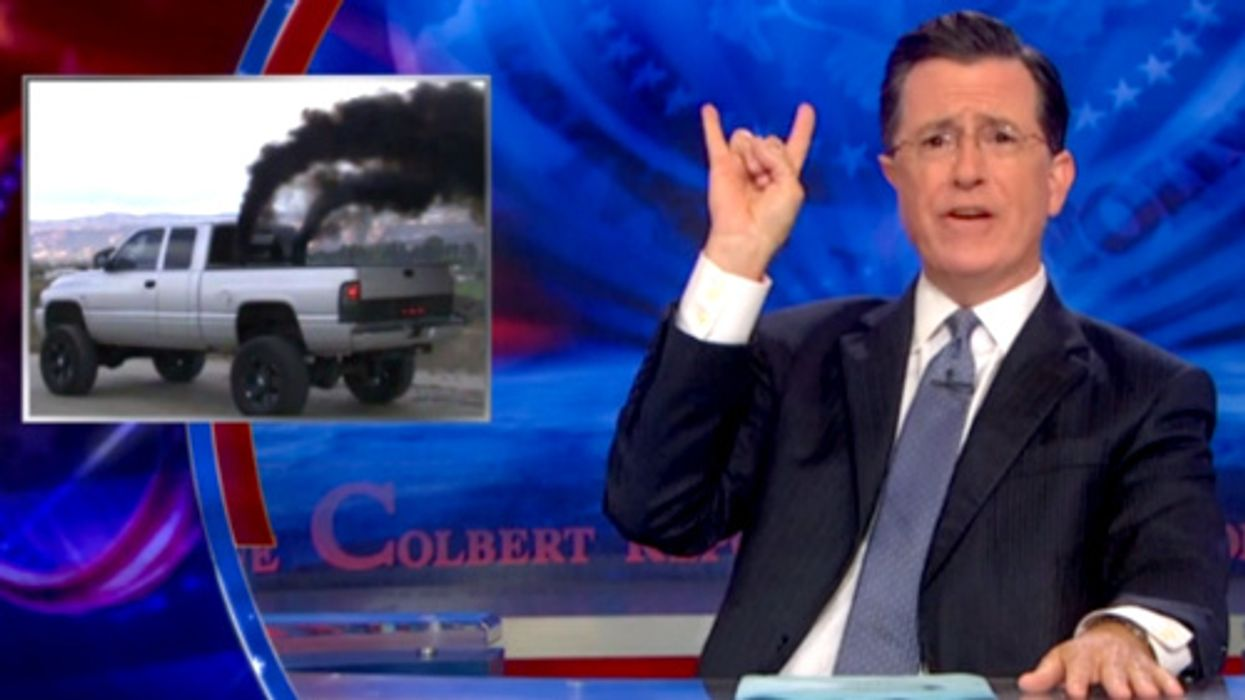 Colbert Pokes Fun at 'Rolling Coal,' the Insecure Truck Driver's Response to Environmentalists