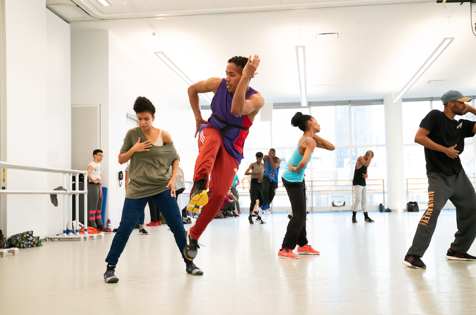 Ailey dancer Daniel Harder jumps
