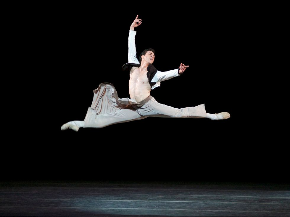 Thomas Forster leaps onstage