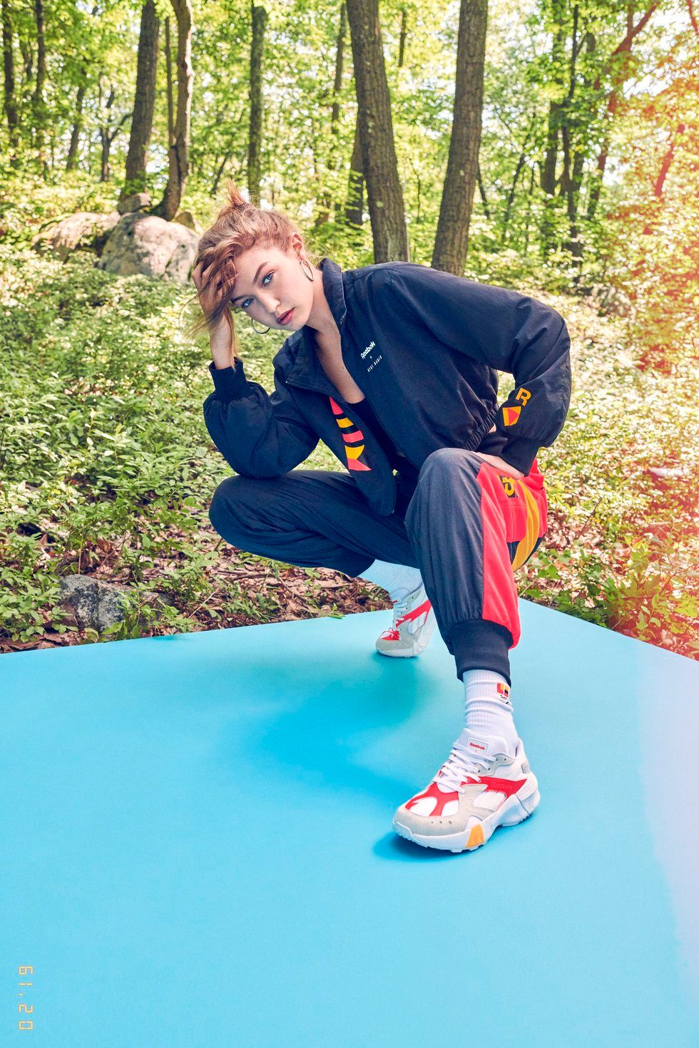 87b9d55c98f Gigi Hadid Launches 90s-Inspired Reebok Capsule Collection - PAPER