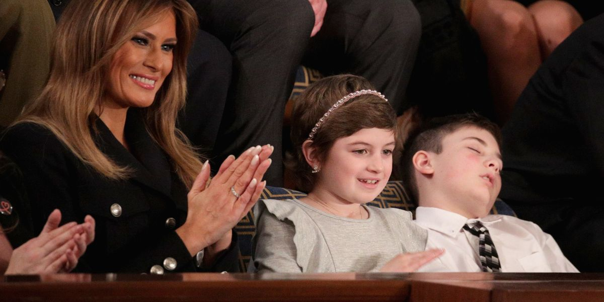 Joshua Trump Catching Zzz's at the SOTU Is a Big Mood