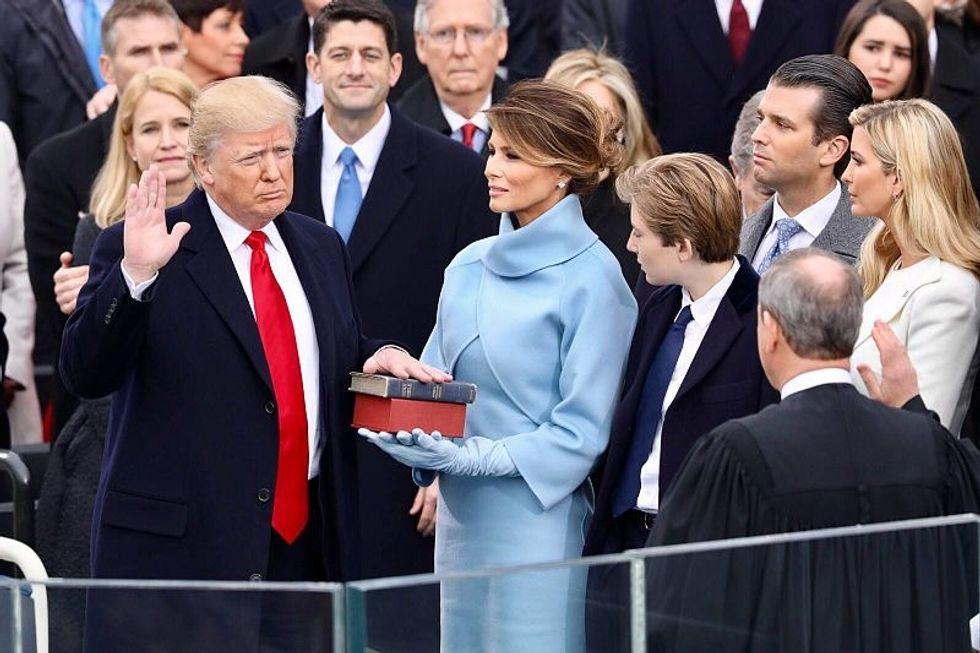 President Trump Swearing In