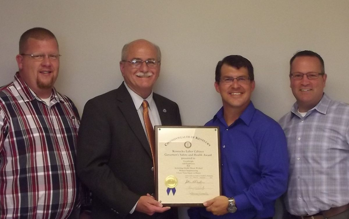 Kentucky Governor's Safety Award Recognition Earned