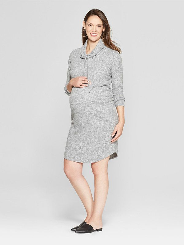 ef01ee02f86 10 Sweater Dresses for Pregnancy - Motherly
