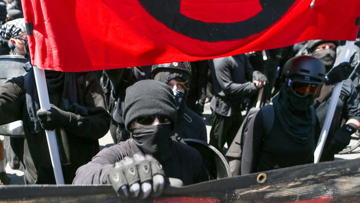 What are 'black bloc' anarchists?