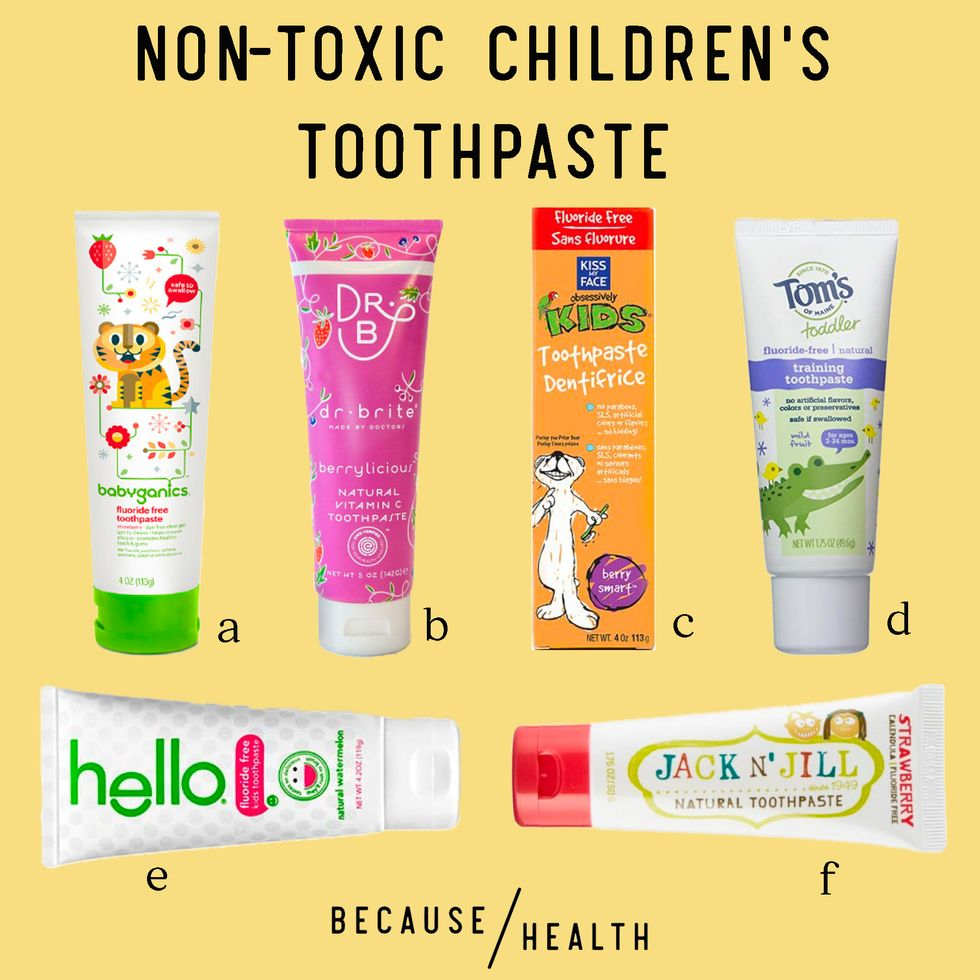 6 Non-Toxic Children's Toothpaste Options