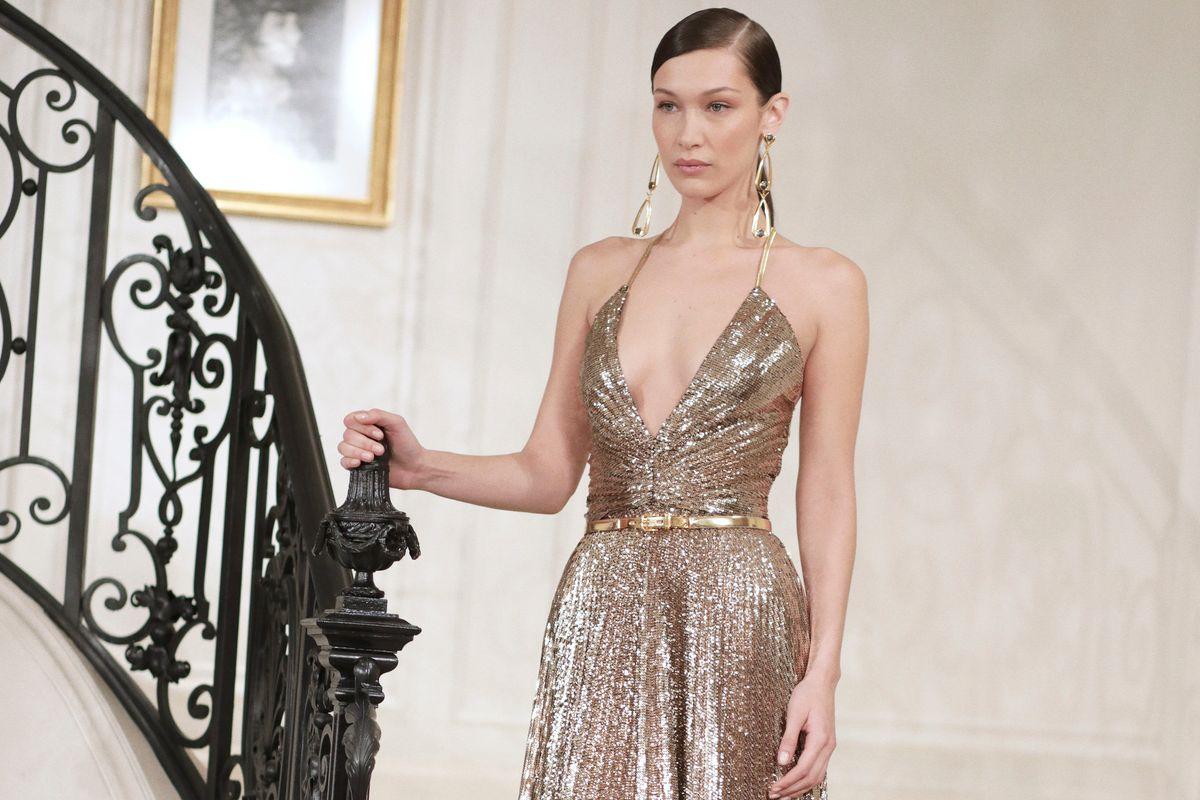 Bella Hadid Glitters for Ralph Lauren
