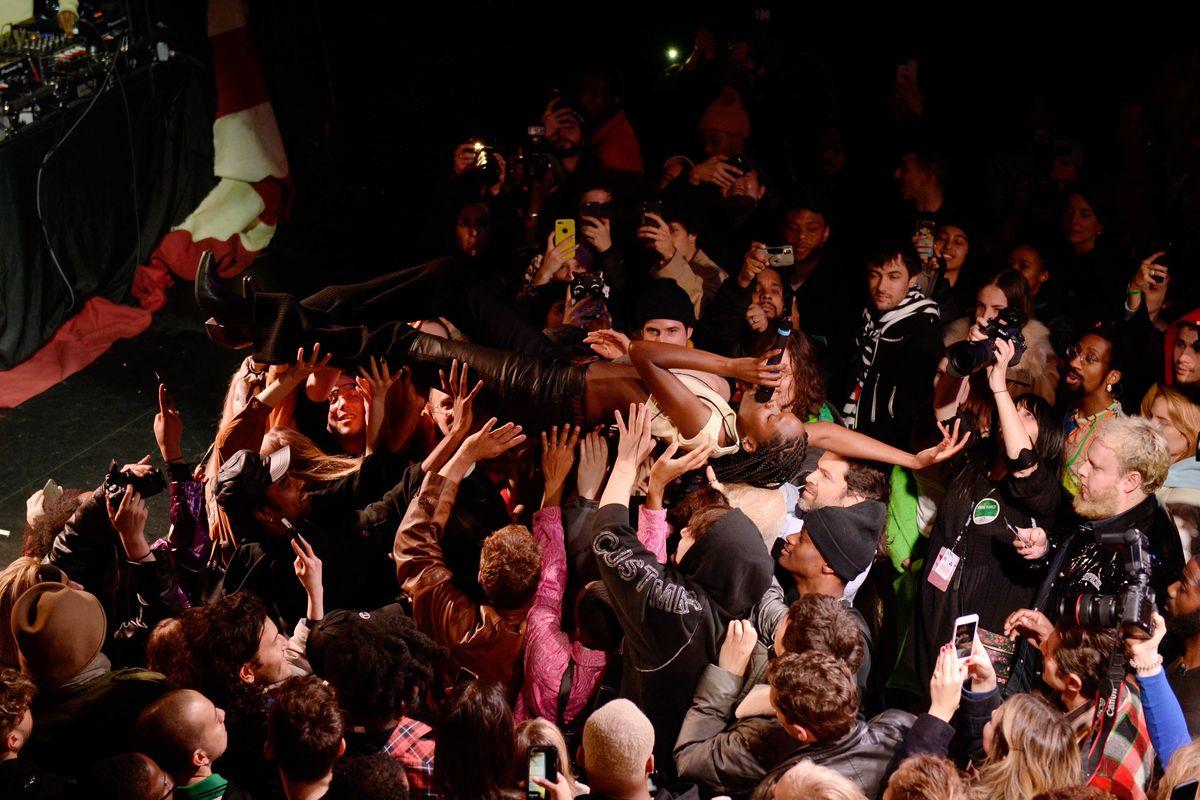 Models Went Crowdsurfing at an Unforgettable Telfar Show