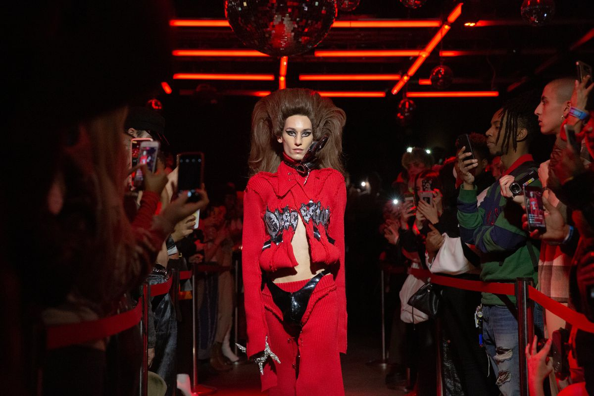 Club Kids Crowded Inside a Gay Bar For This Designer's Runway Debut