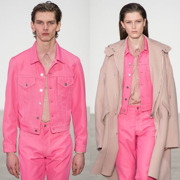 Helmut Lang Gave Us Hot Pink His and Hers