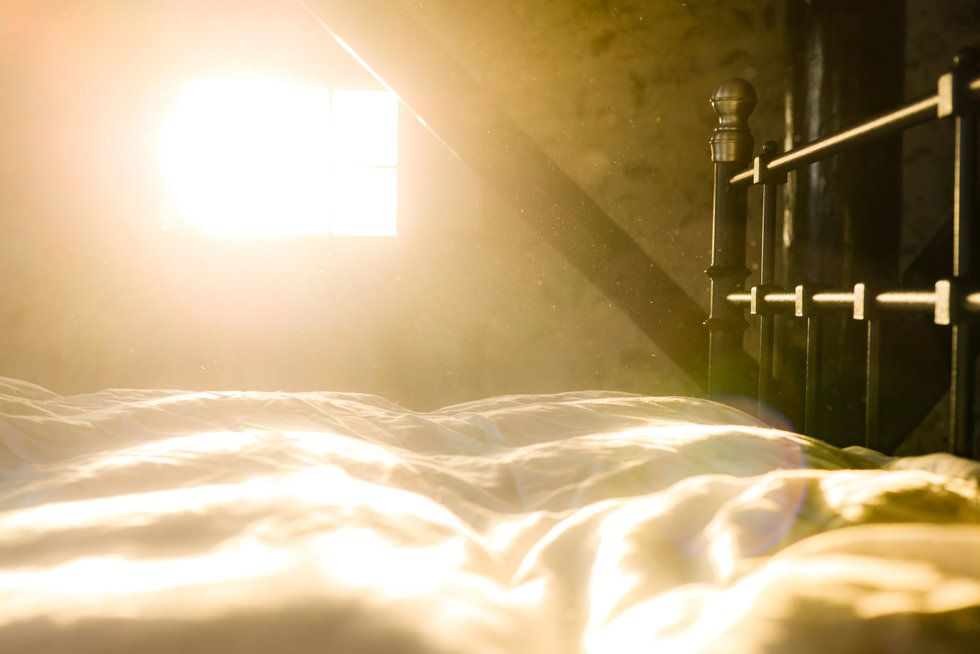 Bed with natural light