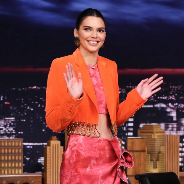 Kendall Jenner Debuts Area's Fall Collection on Fallon