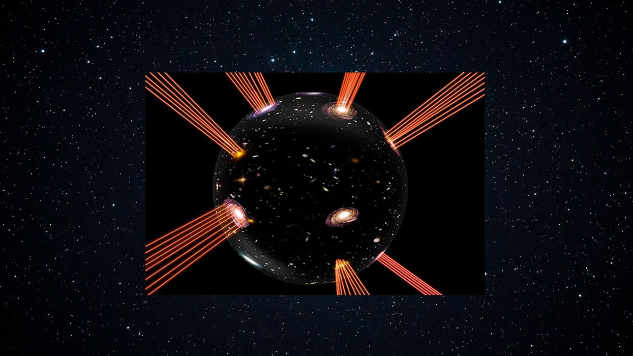Radical theory says our universe sits on an inflating bubble in an extra dimension