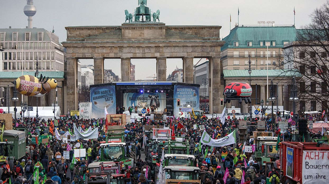 35,000 Protestors in Berlin Call for Agricultural Revolution