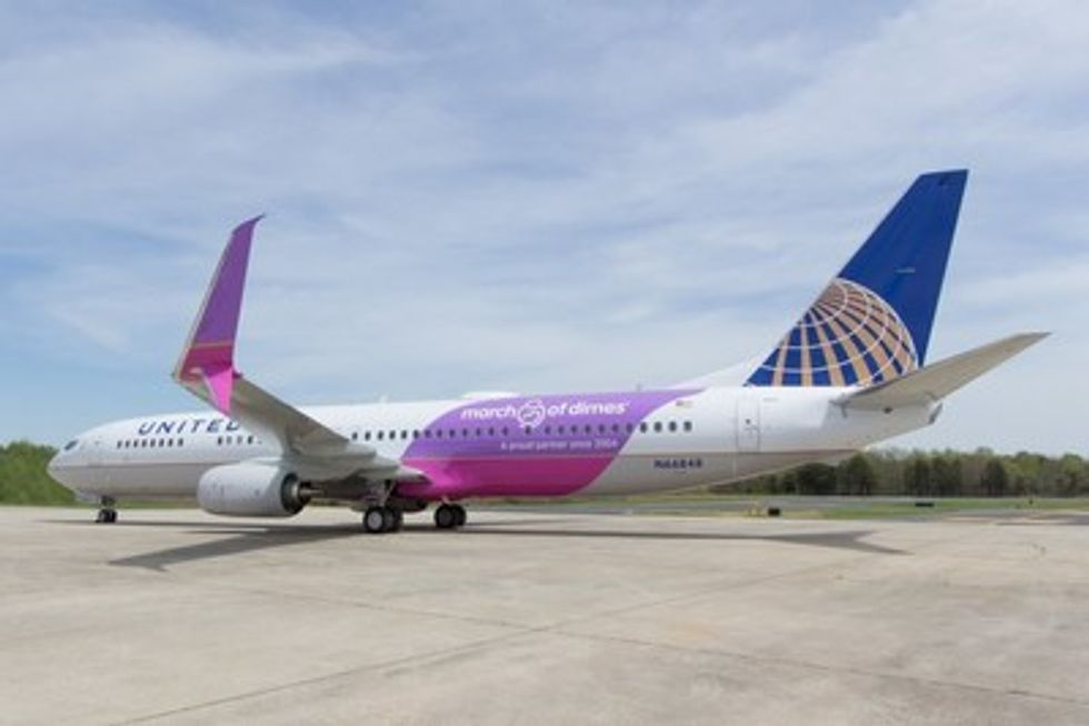 United Purple Plane Is On A Mission For Healthy Babies United Hub