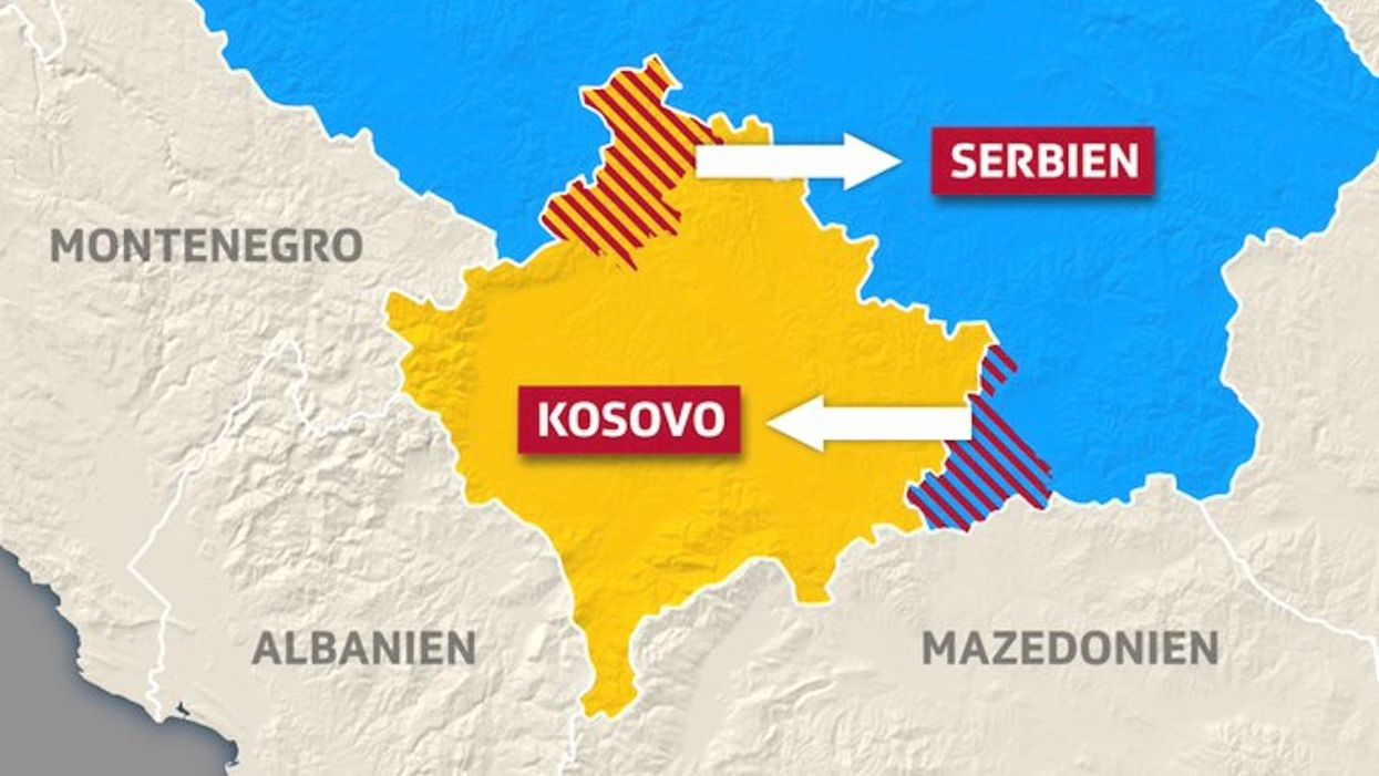 Map of Kosovo land swap