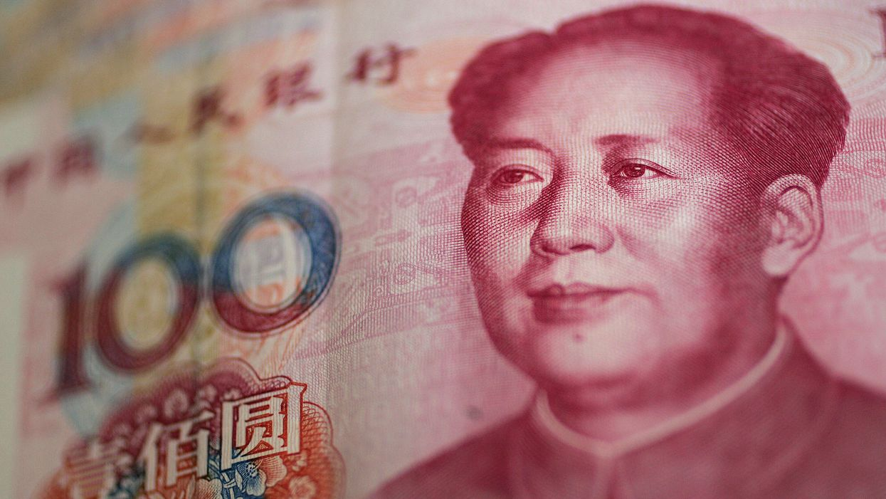 Chairman Mao as depicted on the 100 RMB note.