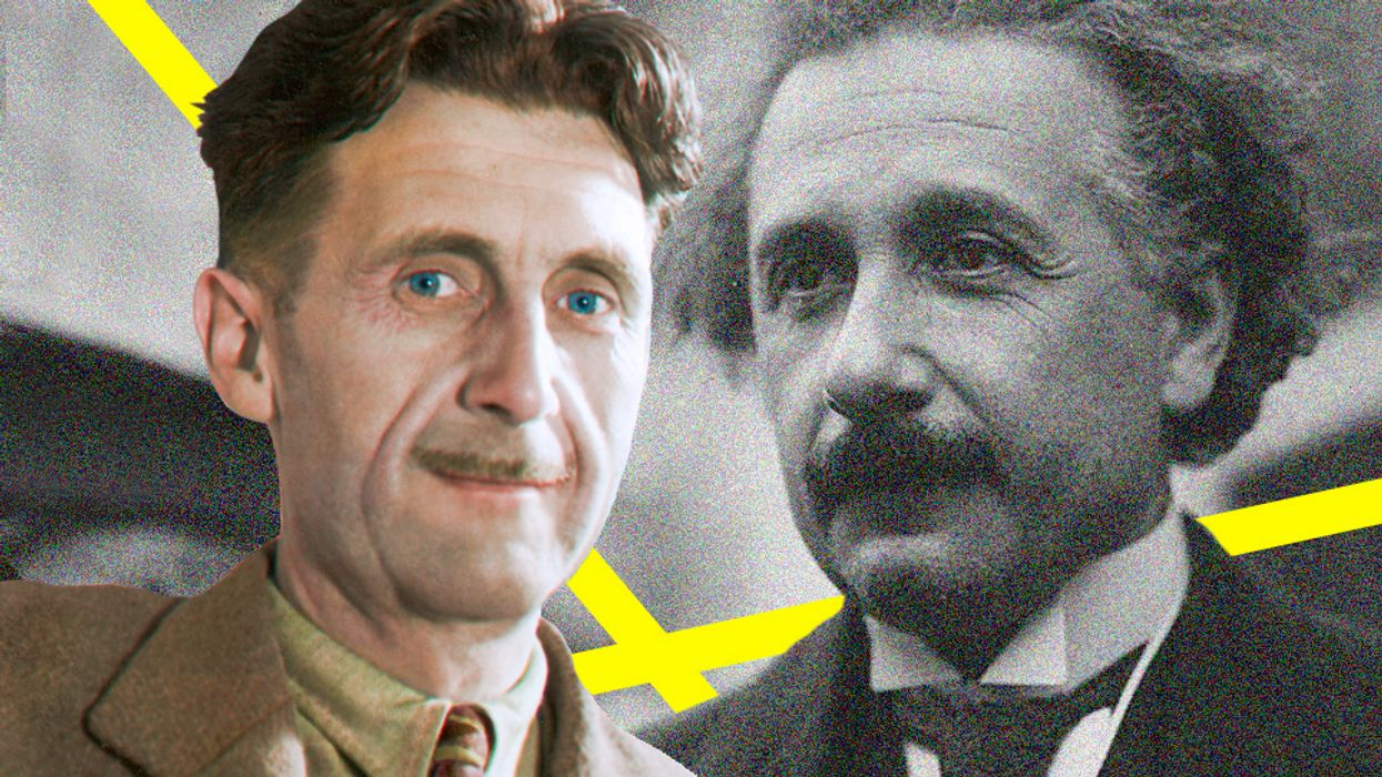 George Orwell and Albert Einstein.