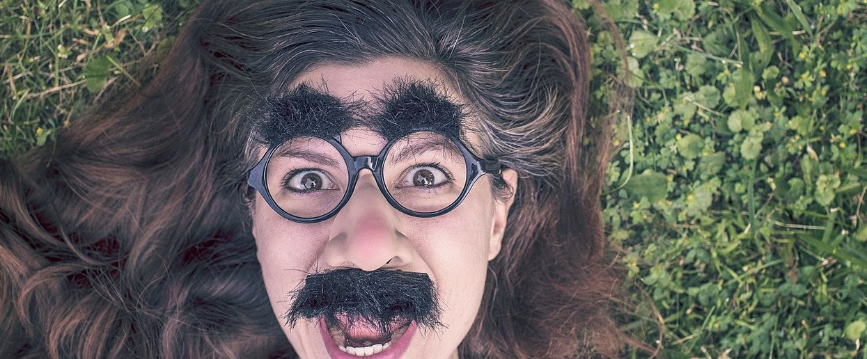Woman in Groucho glasses. (Credit: Ryan McGuire, Pixabay)