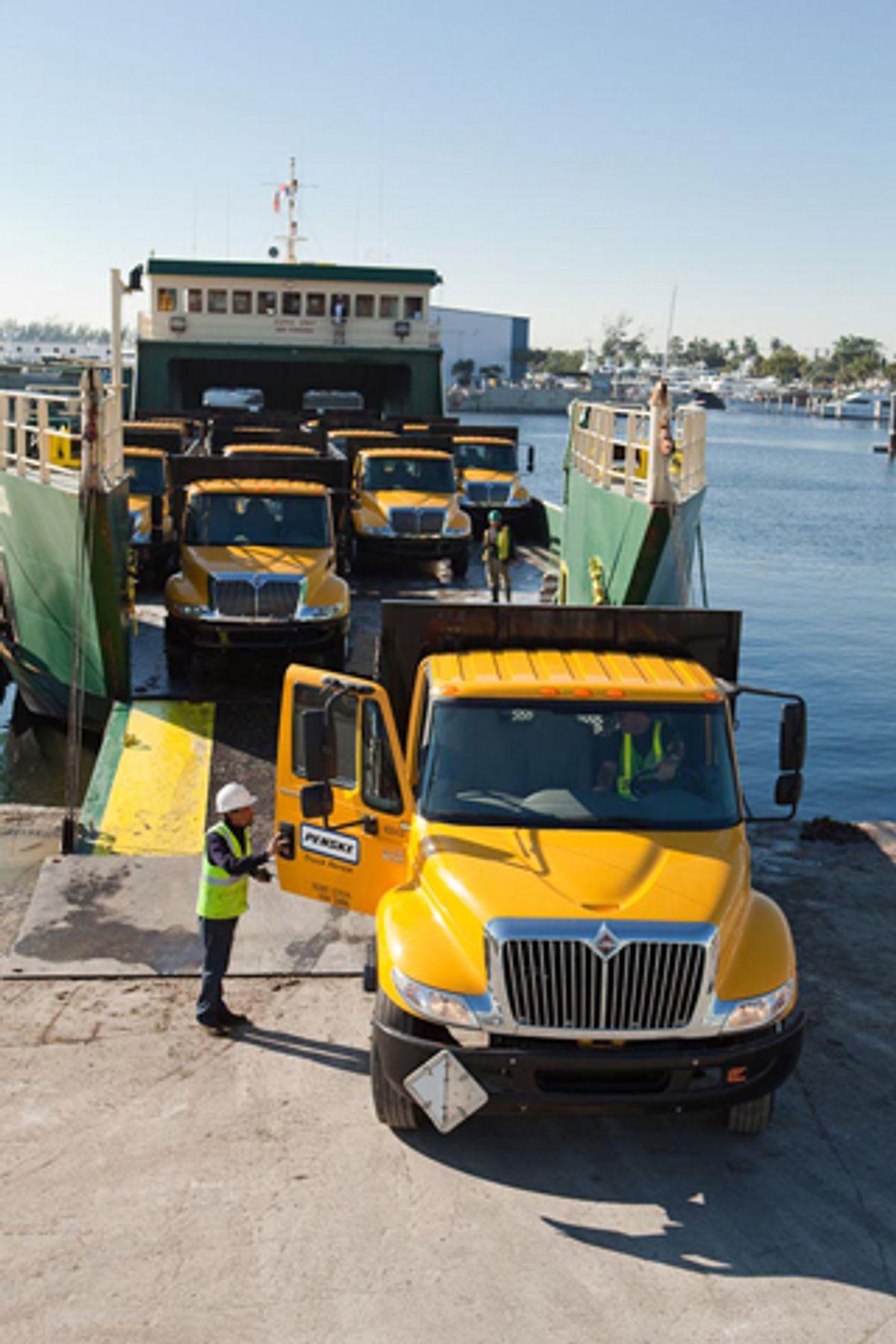 Donated Penske Trucks at Work in Haiti