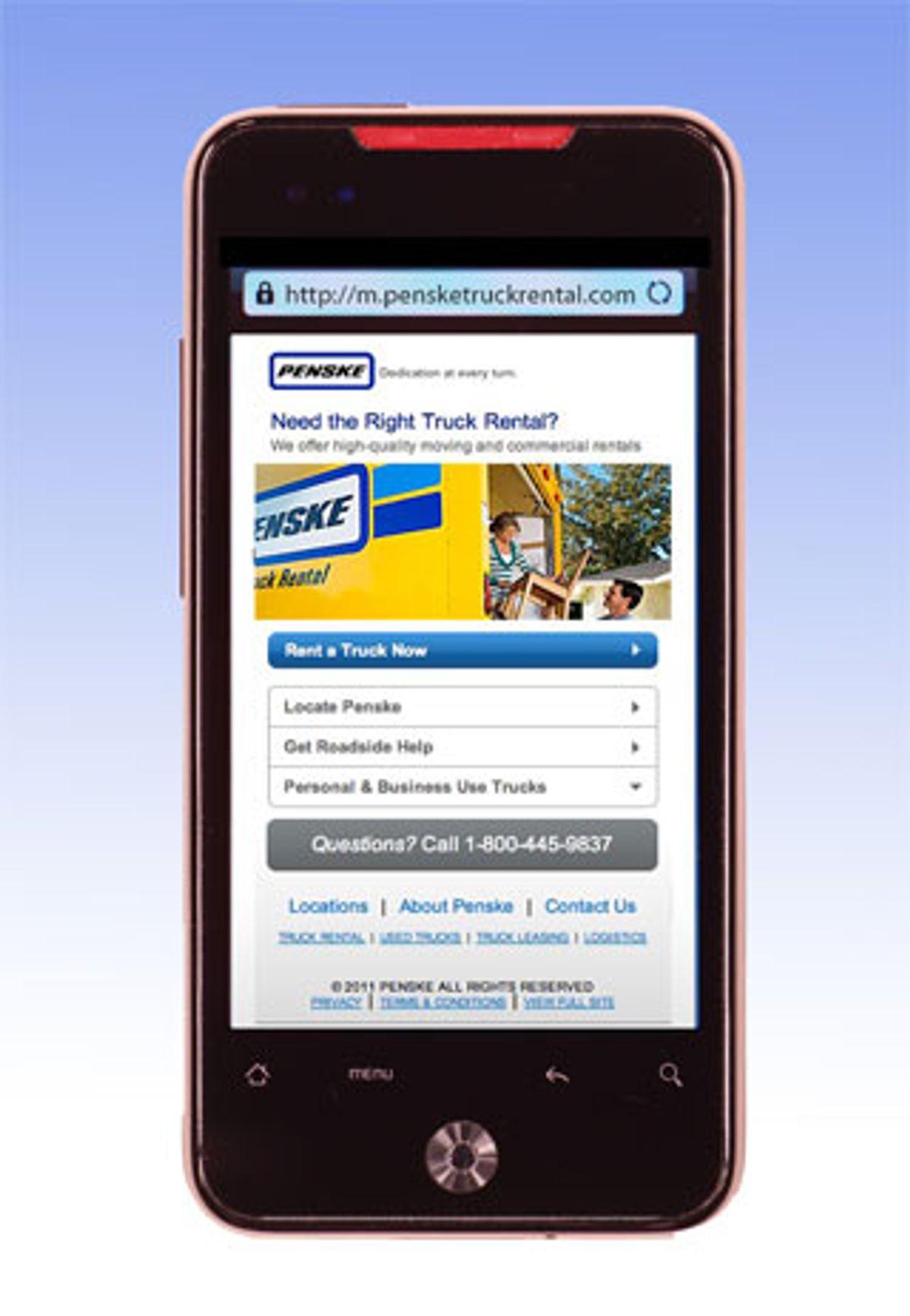 Penske's New Mobile Site Makes Truck Rental Easy