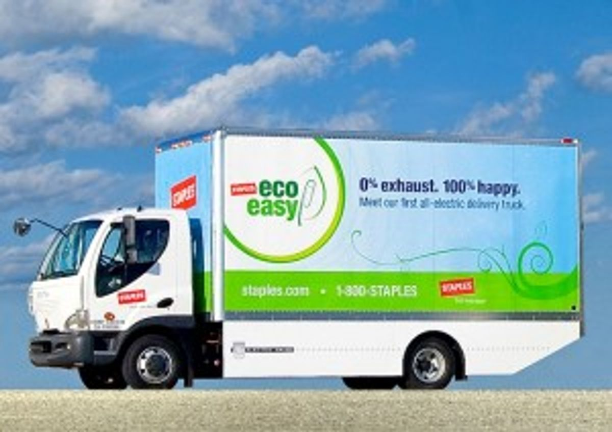 Staples Selects Penske to Maintain Electric Truck Fleet